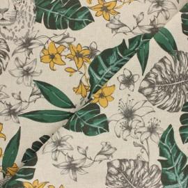 Tissu polycoton aspect lin Savannah - Naturel x 10cm