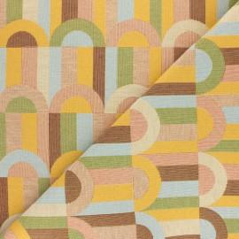 Tissu Jacquard Sphera - multicolore x 10 cm