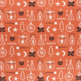 Cotton Dashwood Studio fabric Under the Stars - Camp x 10cm