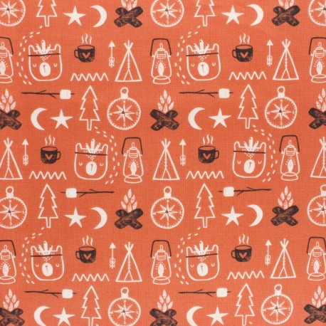 Cotton Dashwood Studio fabric Under the Stars - Orion x 10cm