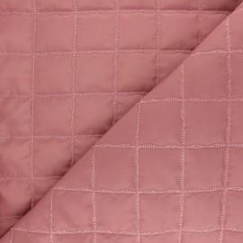 Tissu matelassé doudoune lurex square - rose x 10cm