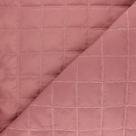 Quilted lining fabric - pink Lurex square x 10cm