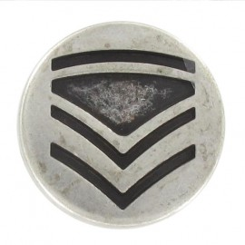 Metal button, rank - silver