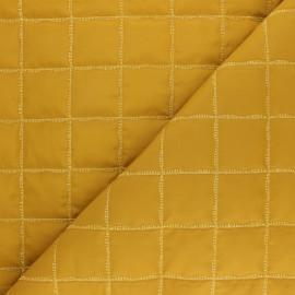 Tissu matelassé doudoune lurex square - moutarde x 10cm