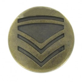 Metal button, rank - antique brass