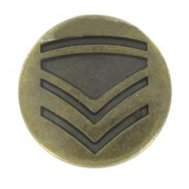 Metal button, rank - antique brass