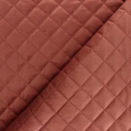 Tissu velours matelassé Fritz - rose x 10cm
