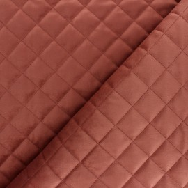 Velvet quilted lining fabric - pink  x 10cm