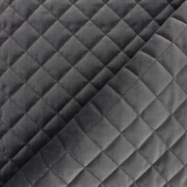 Tissu velours matelassé Fritz - gris foncé x 10cm