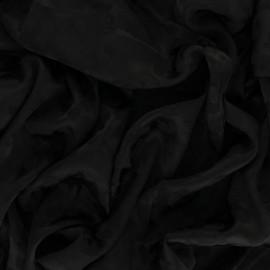 Satin Jacquard Lining Fabric - black Léopard x 10cm