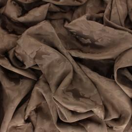 Satin Jacquard Lining Fabric - taupe Léopard x 10cm