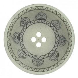 Button, Incas - grey