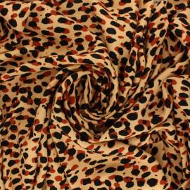 Tissu Crêpe de Viscose Léopard - Beige x 10cm