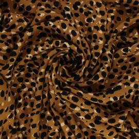 Crepe Viscose fabric - Ochre Léopard x 10cm