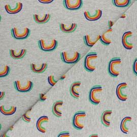 Tissu jersey Arc-en-ciel - Gris chiné x 10cm