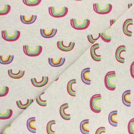 Cotton Jersey fabric - Mottled raw Arc-en-ciel x 10cm