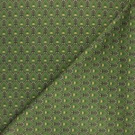 Milano jersey fabric - green Green Peacock x 10cm
