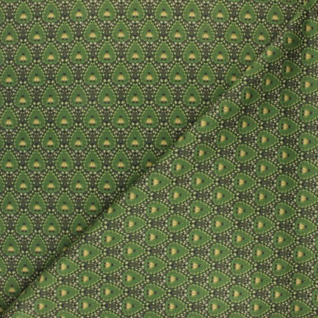 Milano jersey fabric - green Chester x 10cm