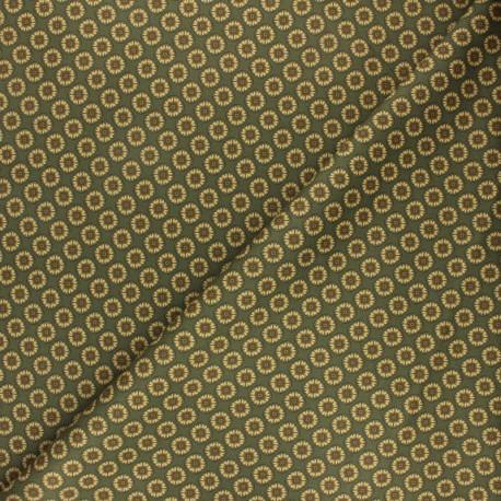 Milano jersey fabric - green Green Flower x 10cm
