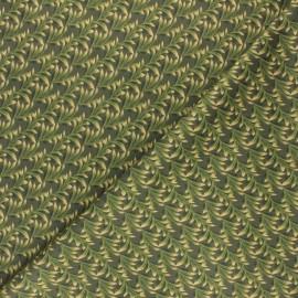 Tissu Jersey Milano Green Leaf - vert x 10cm