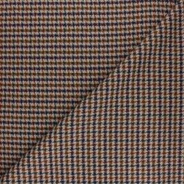 Tissu polyviscose élasthanne Carreaux - bleu marine x 10cm