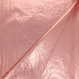 Tissu métallique froissé -  rose x 10cm