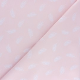 Poplin Cotton fabric - pink Plumette x 10cm