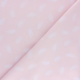 Tissu popeline Stenzo Plumette - rose x 10cm