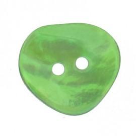Bouton nacre coeur vert