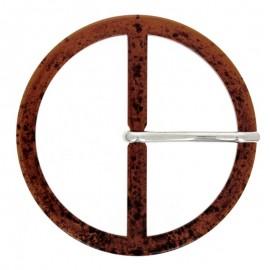 Round Shaped Belt Buckle - Tortoise Stilo