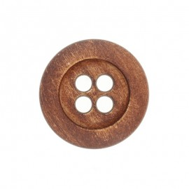 Wooden Aspect Polyester Button - Walnut Tree