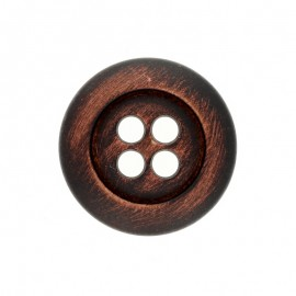 Wooden Aspect Polyester Button - Ancient Oak