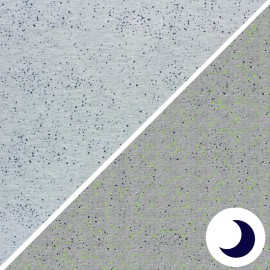 Tissu Jersey Phosphorescent Poppy Astronomy - gris x 10cm