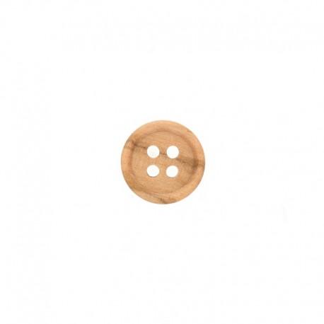 Round Wooden Button - Natural Chemisette