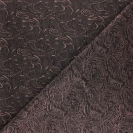 ♥ Coupon 120 cm X 140 cm ♥ Tissu Doublure Jacquard Abstract - marron