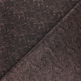 Tissu Doublure Jacquard Abstract - marron x 10cm