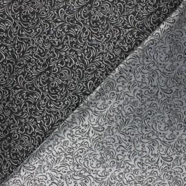 Tissu Doublure Jacquard Arnia - gris foncé x 10cm
