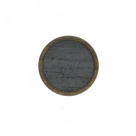 23 mm Polyester Button - Grey Martine