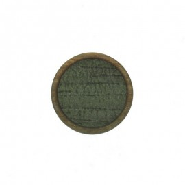 23 mm Polyester Button - Green Martine