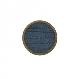 23 mm Polyester Button - Blue Martine