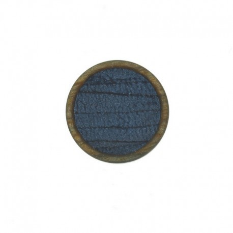 23 mm Polyester Button - Blue Martine