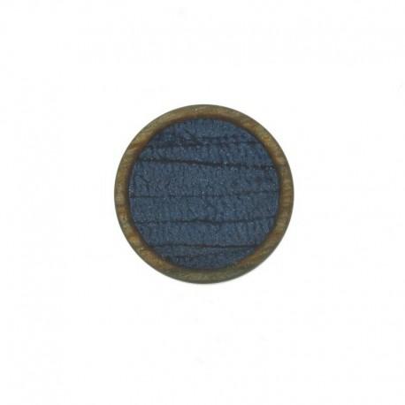 Bouton Polyester Martine 23 mm - Bleu