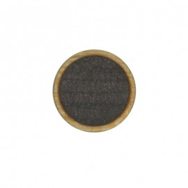 Bouton Polyester Martine 23 mm - Marron