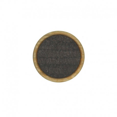 23 mm Polyester Button - Brown Martine