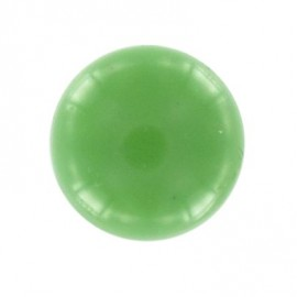 Bouton boule polyester vert 10mm