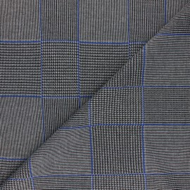 Lurex polyviscose knitted Fabric - blue Gordon x 10cm