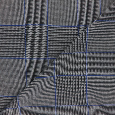 Lurex viscose knitted Fabric - navy Suzanne x 10cm