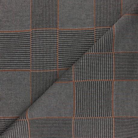Tissu Maille polyviscose lurex Gordon - bleu x 10cm