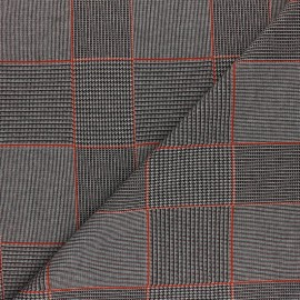 Lurex polyviscose knitted Fabric - rust Gordon x 10cm