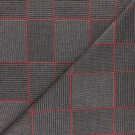 Lurex polyviscose knitted Fabric - red Gordon x 10cm